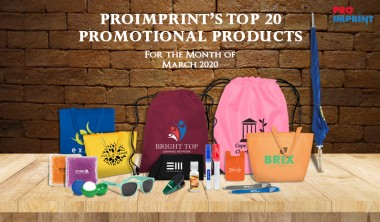 ProImprint's 20 Top Selling Products For March 2020