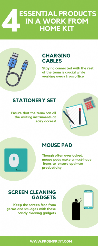 Top 4 essentials in a work from home kit