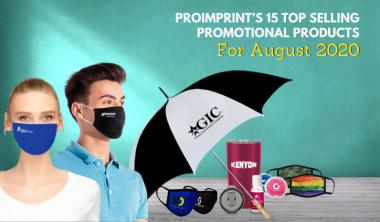 ProImprint's 15 Top Selling Promotional Products For August 2020