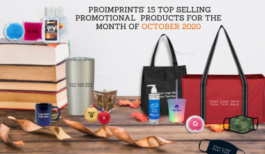 ProImprint's 15 Top Selling Promotional Products  For The Month Of October 2020