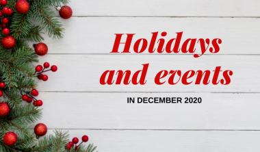Holidays and Events in December 2020 – Plan your Promotions