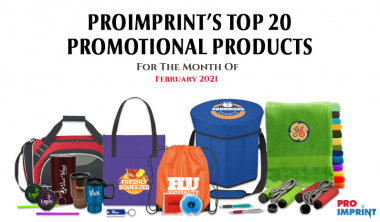 Proimprint's 15 Top selling products for February 2021
