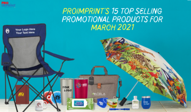 ProImprint's 15 Top Selling Products for the Month of March 2021
